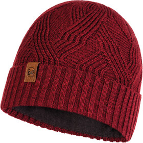 Buff Lifestyle Knitted and Polar Fleece Casquette, artur maroon